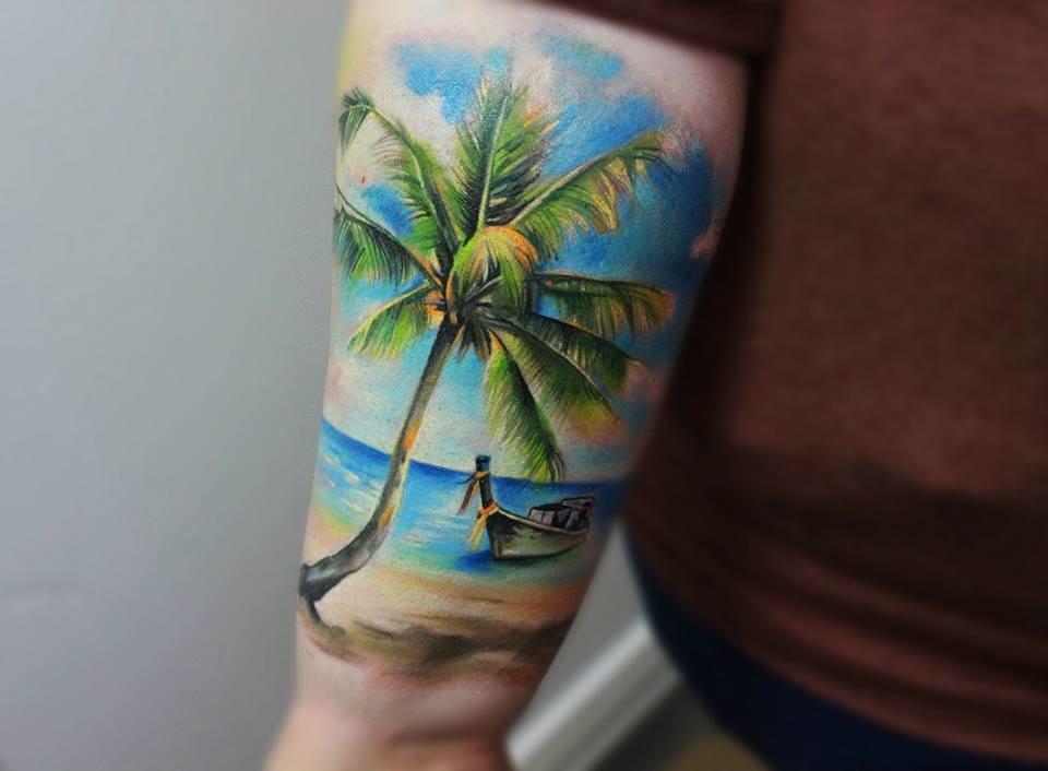 Fantastic tattoo by Helena Addams...
