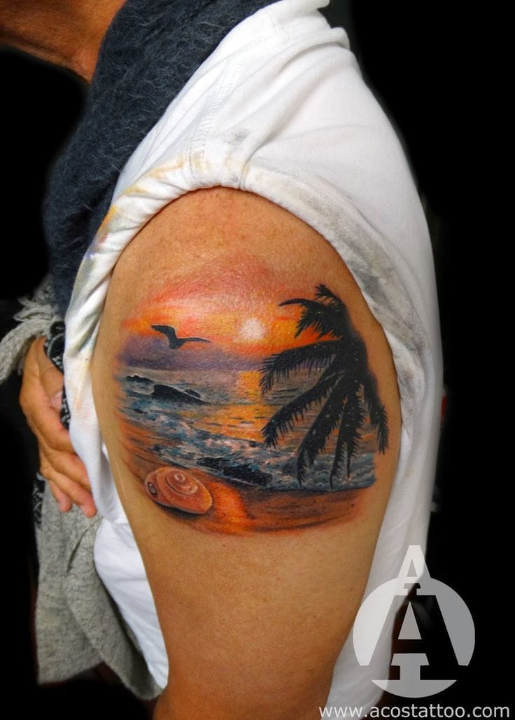 A little paradise on your body... By Andres Acosta.