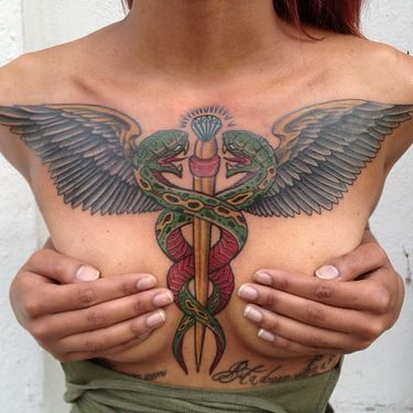 15 Impressive Caduceus Tattoos