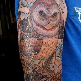 Owl sleeve tattoo