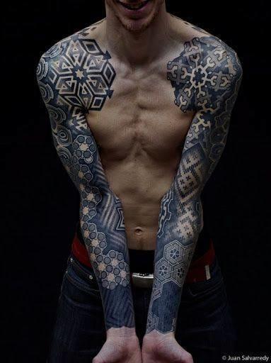 Dotwork tattoo by @xnazax / Juan Salvarredy #dotwork #mandala #sleeve #sleeves