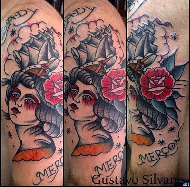 Gustavo coloca sempre seu toque pessoal em todas as tatuagens que faz, nenhuma é igual a outra