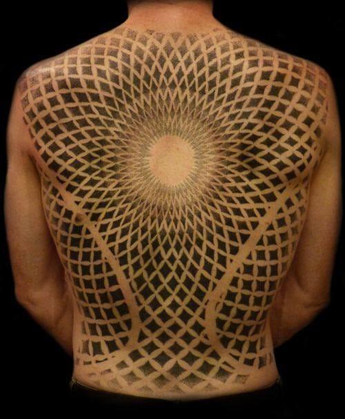 Dotwork tattoo by Eric the Viking, Happy Sailor Tattoo, London UK #dotwork #fullback #EricTheViking #HappySailorTattoo