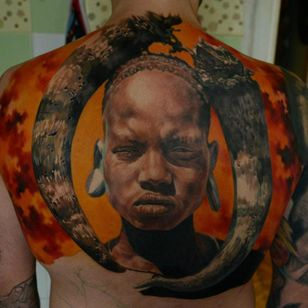 This back piece in progress by Den Yakovlev is going to be crazy!
