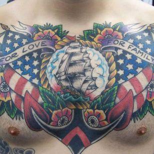 Anchor Old School Usa Tattoo by Aloha Monkey Tattoo