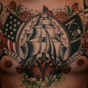 Ship, USA by Guru Tattoo