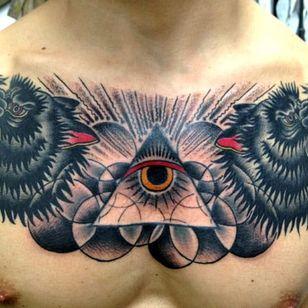 Wolf God Tattoo by Saved Tattoo