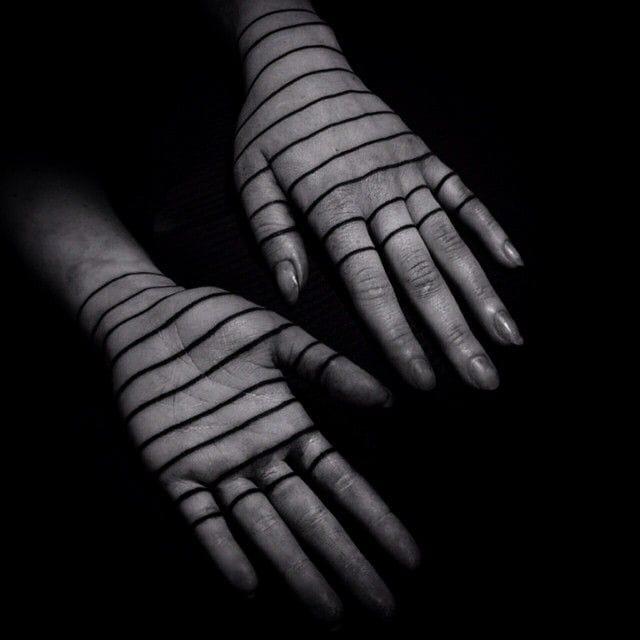 This is elegant! Lines by Warren Morissens. #Minimal #LineTattoo #BlackLine