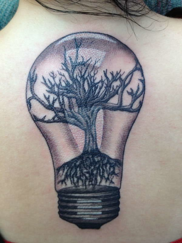 Árbol de bulbos, artista desconocido