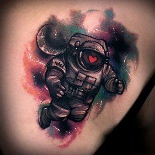 Love cosmonaut by Varo Tattooer.