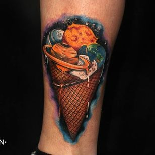 Funky space ice cream cone by Dasha Sugar Sahar!