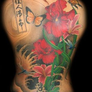 Japanese Landscape Tattoo by Lucky Bamboo Tattoo