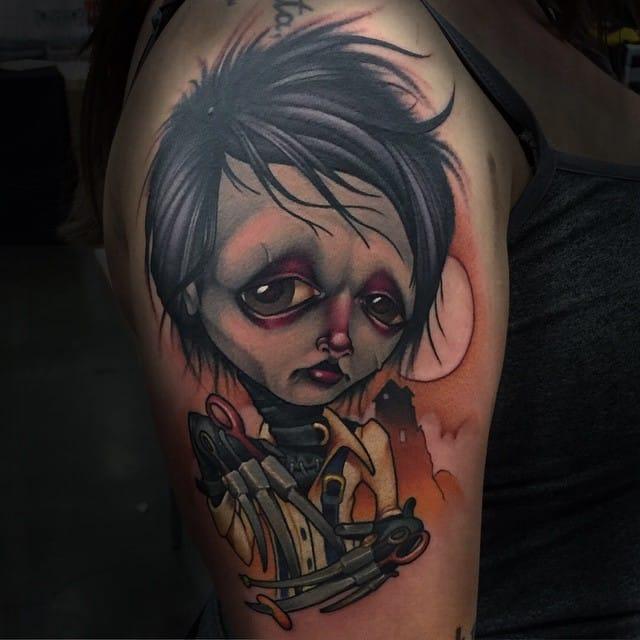 Edward Tim Burton tattoo