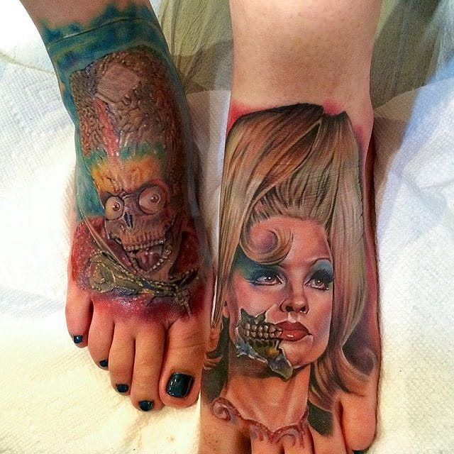 Mars Attack feet by Cecil Porter!