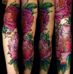 #peony #peonies #floral #flower #sleeve