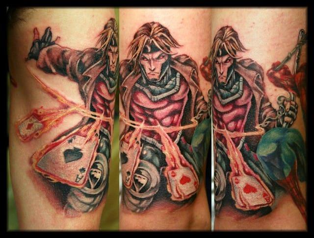 Gambit Tattoo by William Webb