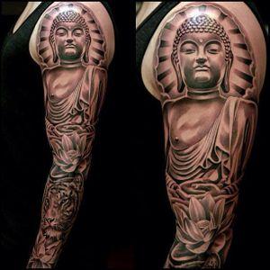 Buddha Tattoo, artist unknown. #buddha