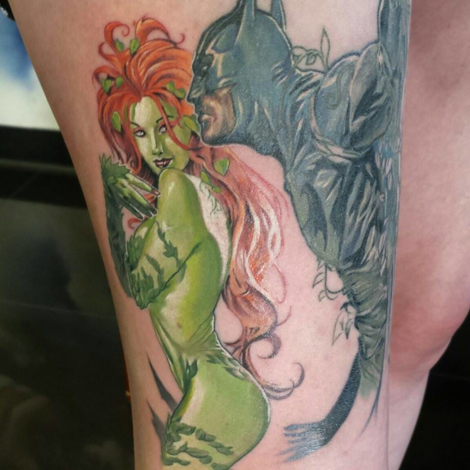 For all the Poison Ivy x Batman shippers! Tattoo by Troy Slack