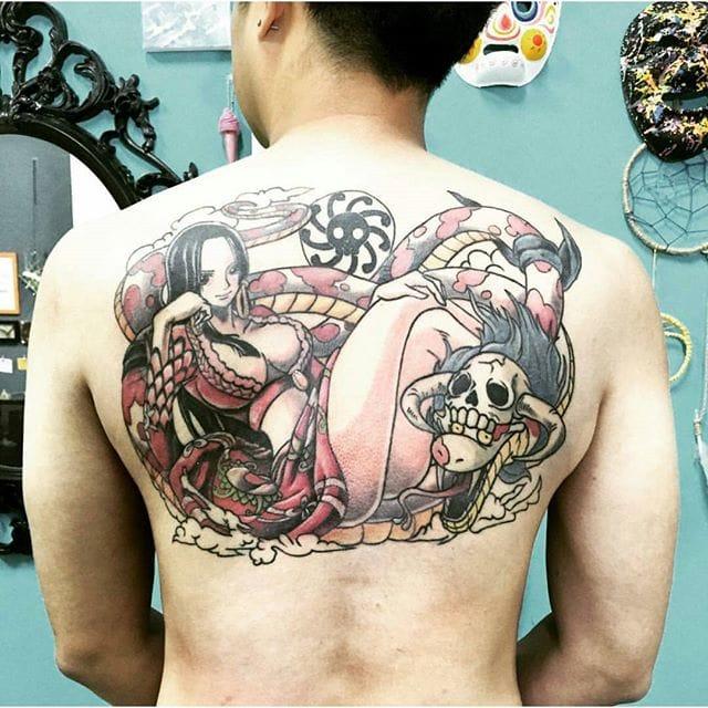 one piece tattoo by @loco_tattooshop Instagram
