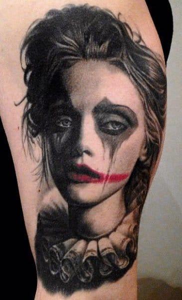 Clown Girl Tattoo by Nikko Hurtado