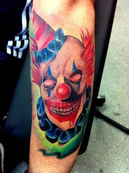 Evil Clown Tattoo by Alans Tattoo Studio