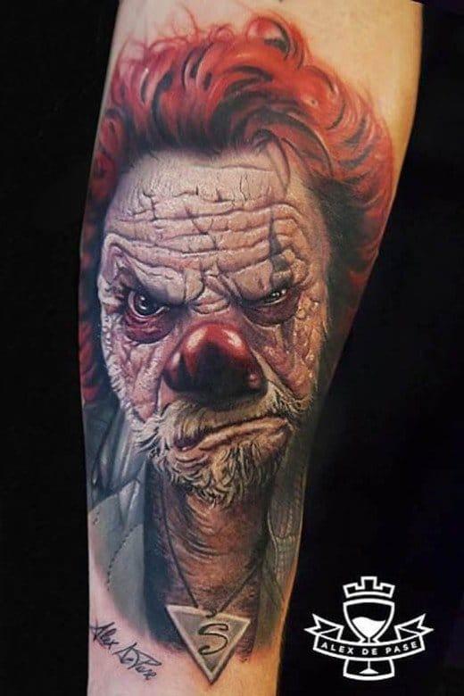 Amazing Clown Tattoo by Alex De Pase