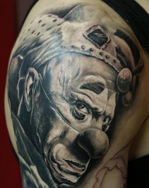 Clown Tattoo by Eddy Tattoo