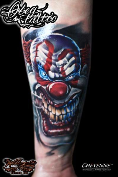 Villainous Clown by Oleg Tattoo