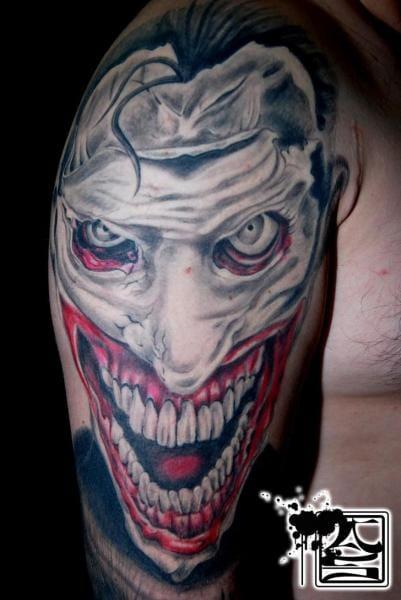 Joker Clown Tattoo by Balinese Tattoo