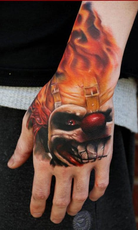 Twisted Metal Tattoo by Kyle Cotterman