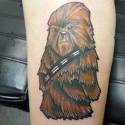 Star Wars tattoo. Artist unknown #chewbacca #starwars