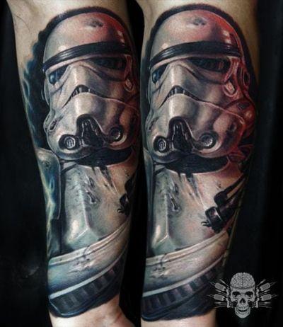 Stormtrooper Tattoo by Tattooed Theory #stormtrooper #tattooedtheory #starwars