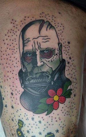 Unmasked Vader. Star Wars tattoo by Fat Manu Tattoo #starwars #FatManu