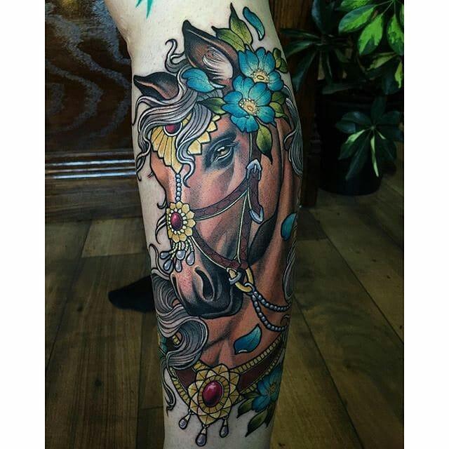 Fancy tattoo by Sam Smith.
