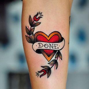 #traditional #heart #lettering #fullcolor #Rockavin