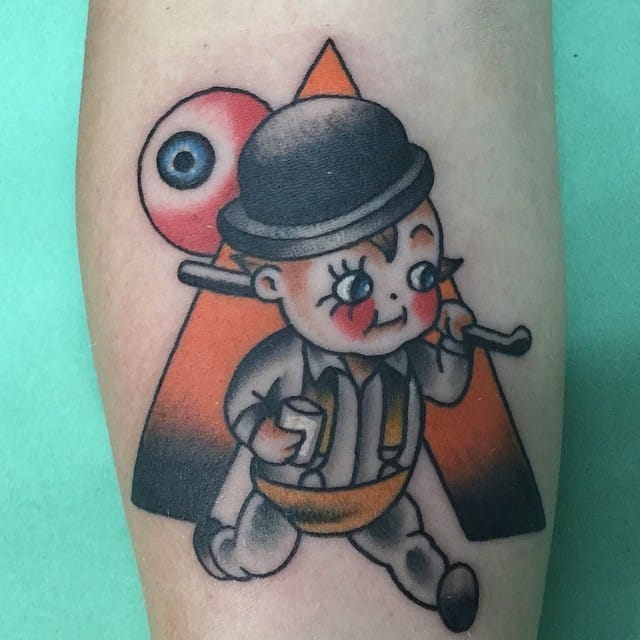 Clockwork Orange tattoo of Sandy