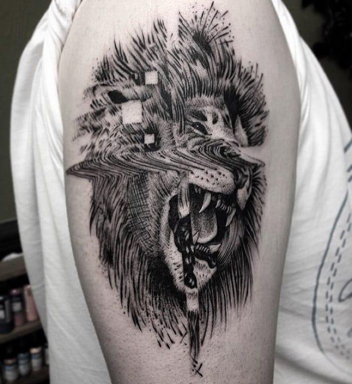 Glitch lion by Amos too.