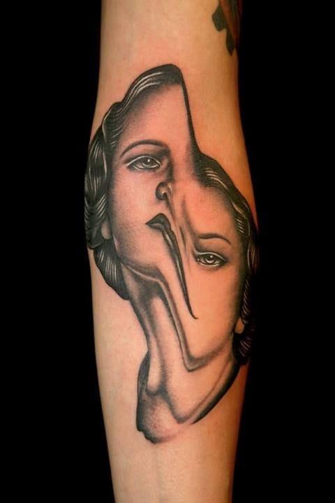 Another artist familiar with glitch tattoos: Pietro Sedda.