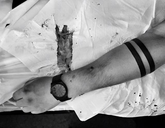 Blackwork arm band by Hanumantra Lamar #armband #HanumantraLamar