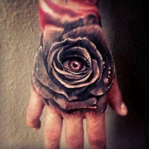 Rose tattoo by Carl grace