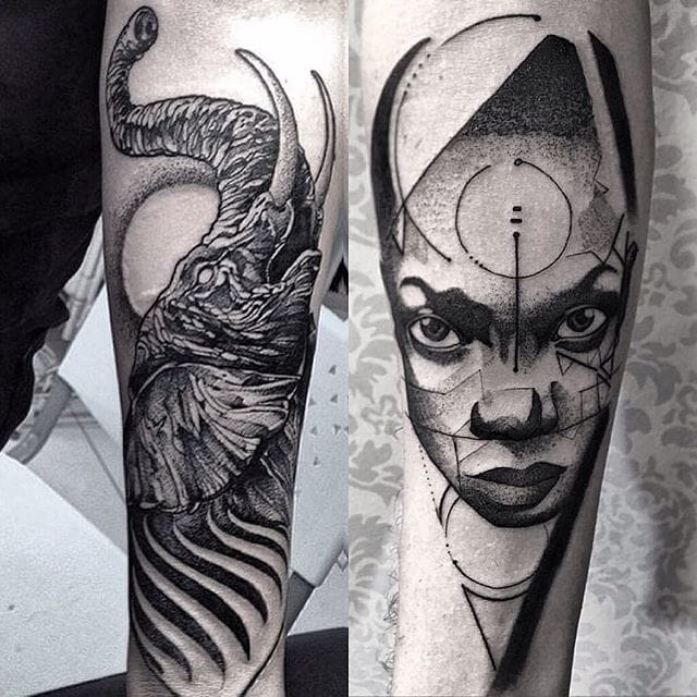 Awesome tattoo by Fredao Oliveira #blackwork #blckwrk #linework #shading #abstract #sketchstyle #elephant #portait #FredaoOliveira