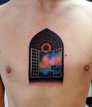 Mysterious and pretty tattoo by Marcin Surowiec.