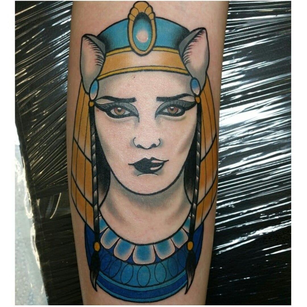 Bastet Tattoo by Mat Schultz