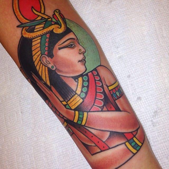 Hathor Tattoo by Dusty Neal