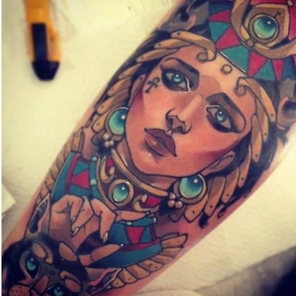 Bastet Tattoo by Vitaly Morozov