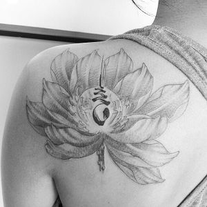 Pretty lotus by PhatJoe. #unalome #spiritual #symbol #linework