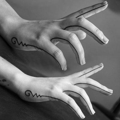 Admirable linework by Mikki Bold. #unalome #spiritual #symbol #linework