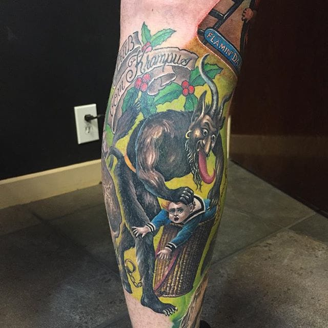 Awesome tattoo inspired by an old illustration, by Nick Friederich!
