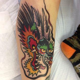 Bold Dragon Tattoo by Greg Christian