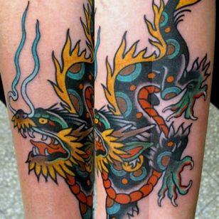 Awesome Dragon Tattoo by Juan Manuel Piranha Sancho